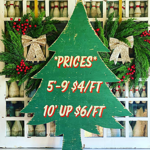Tree Prices - Wood Cut Out