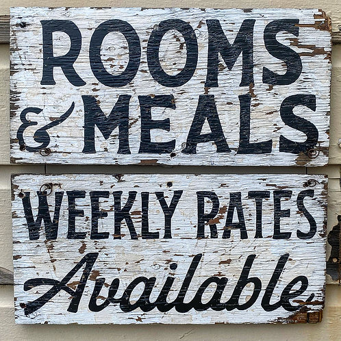 Rooms & Meals Available