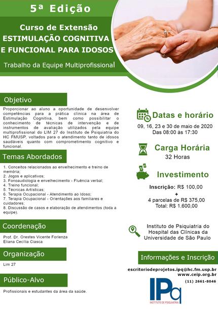 5ª Edição - Estimulação Cognitiva e Funcional para Idosos - Trabalho da Equipe Multiprofissional