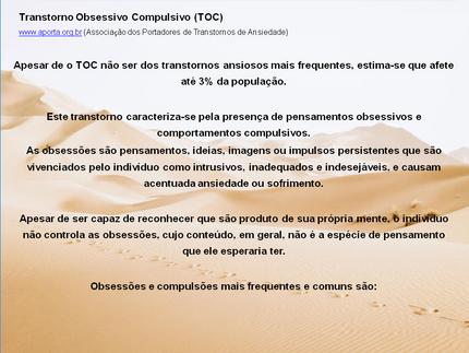 Transtorno Obsessivo Compulsivo-TOC