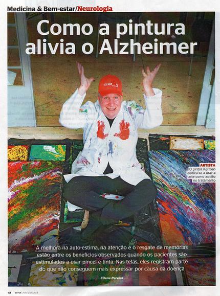 O artista Neil Kerman usa a pintura para auxiliar na doença de Alzheimer