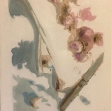 still life with a knife