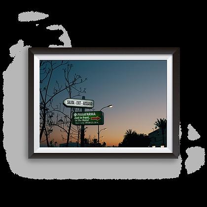 Salida, Exit, Ausgang