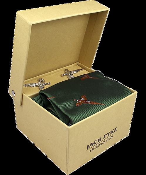 Jack Pyke Cufflinks, Tie & Hanky Gift Set