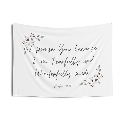 Fearfully & Wonderfully Made Tapestry