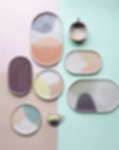 HK LIVING Keramik Set Pastell