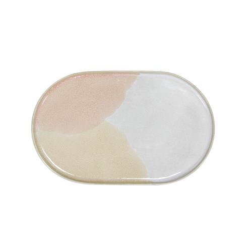 hk living galerie keramik ovaler teller rosa. Black Bedroom Furniture Sets. Home Design Ideas