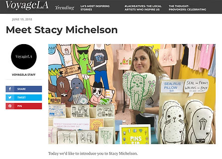 VoyageLA Stacy Michelson Artist Foodie Funny Food Cute Animals Made in Los Angeles