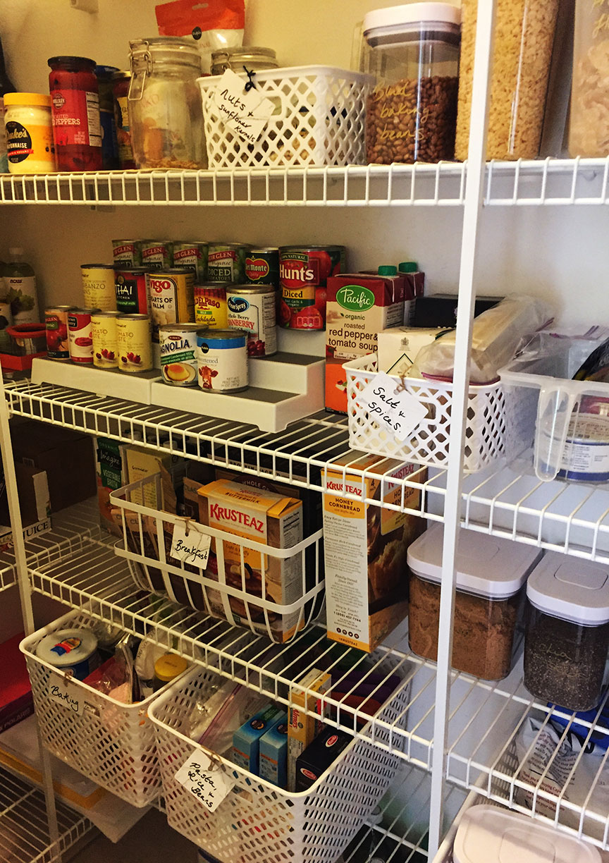 Less time searching in the pantry