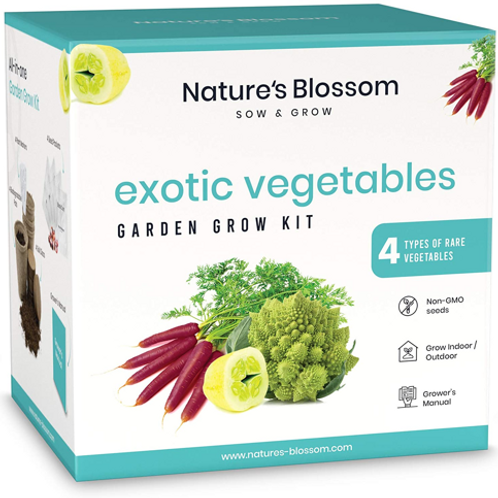 Nature's Blossom Exotic Vegetable Garden Kit - Grow 4 Funky Vegetables