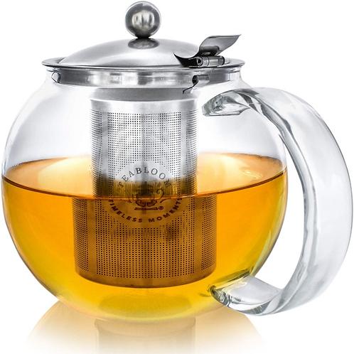 Stovetop Safe + Lead-Free Glass Teapot Kettle – 40 oz / 1.2 L Capacity