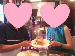 ご結婚されたもと会員さんのお祝いをさせていただきました♡