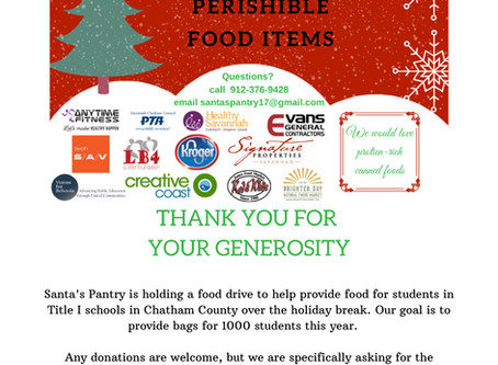 Drop Off Donations for Santa's Pantry