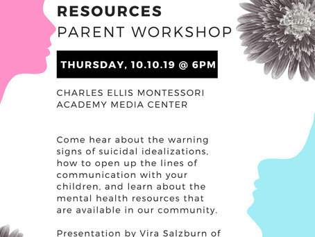 Attend the Suicide Prevention and Mental Health Resources Parent Workshop