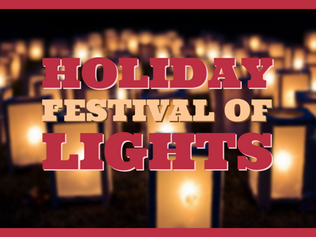 Mark you calendar for Festival of Lights and Booster-thon dates