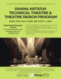 SUMEMR TECHNICAL THEATRE & THEATRE DESIG