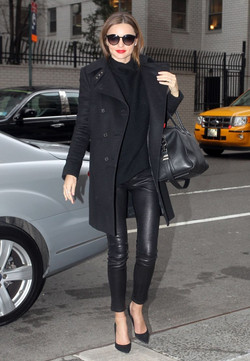 Leather leggings street style
