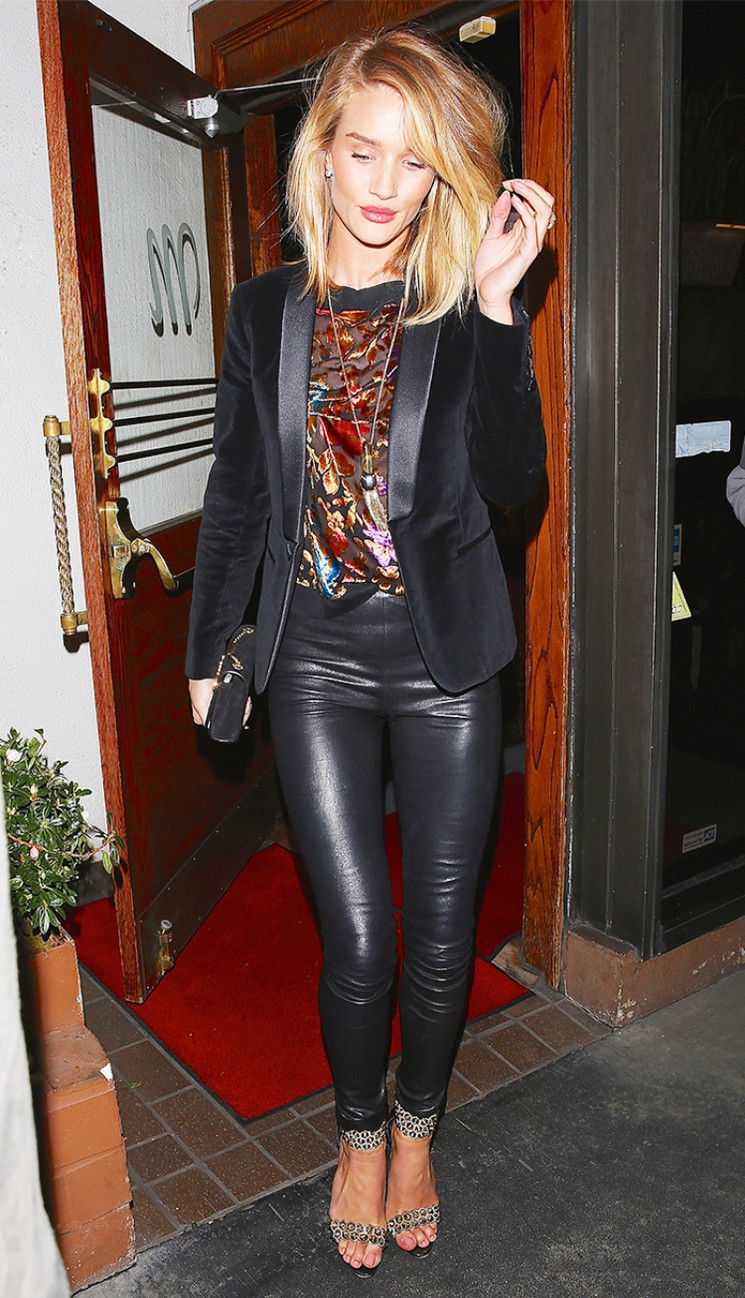 34 Hot Leather Pants Outfits