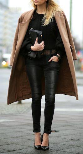 timeless black leather pants