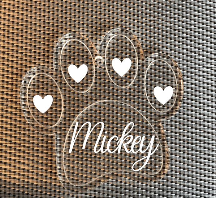 Personalised Dog Paw Decoration