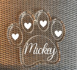 Personalised Dog Paw Decoration