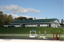 View of Stable from Outdoor Arena