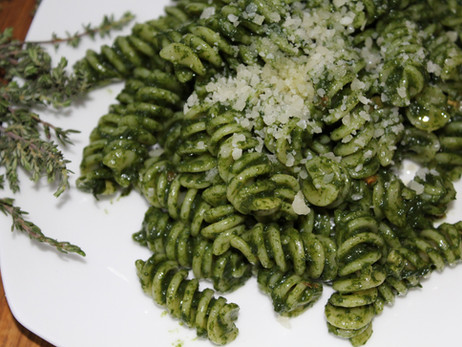 Dinner in a Flash: Spinach-Almond Pesto
