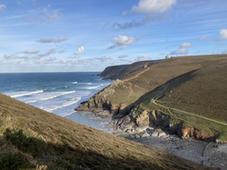 Trevaunance Cove - easily reached on foot and by car
