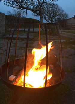 Fire pit (and barbecue) are provided