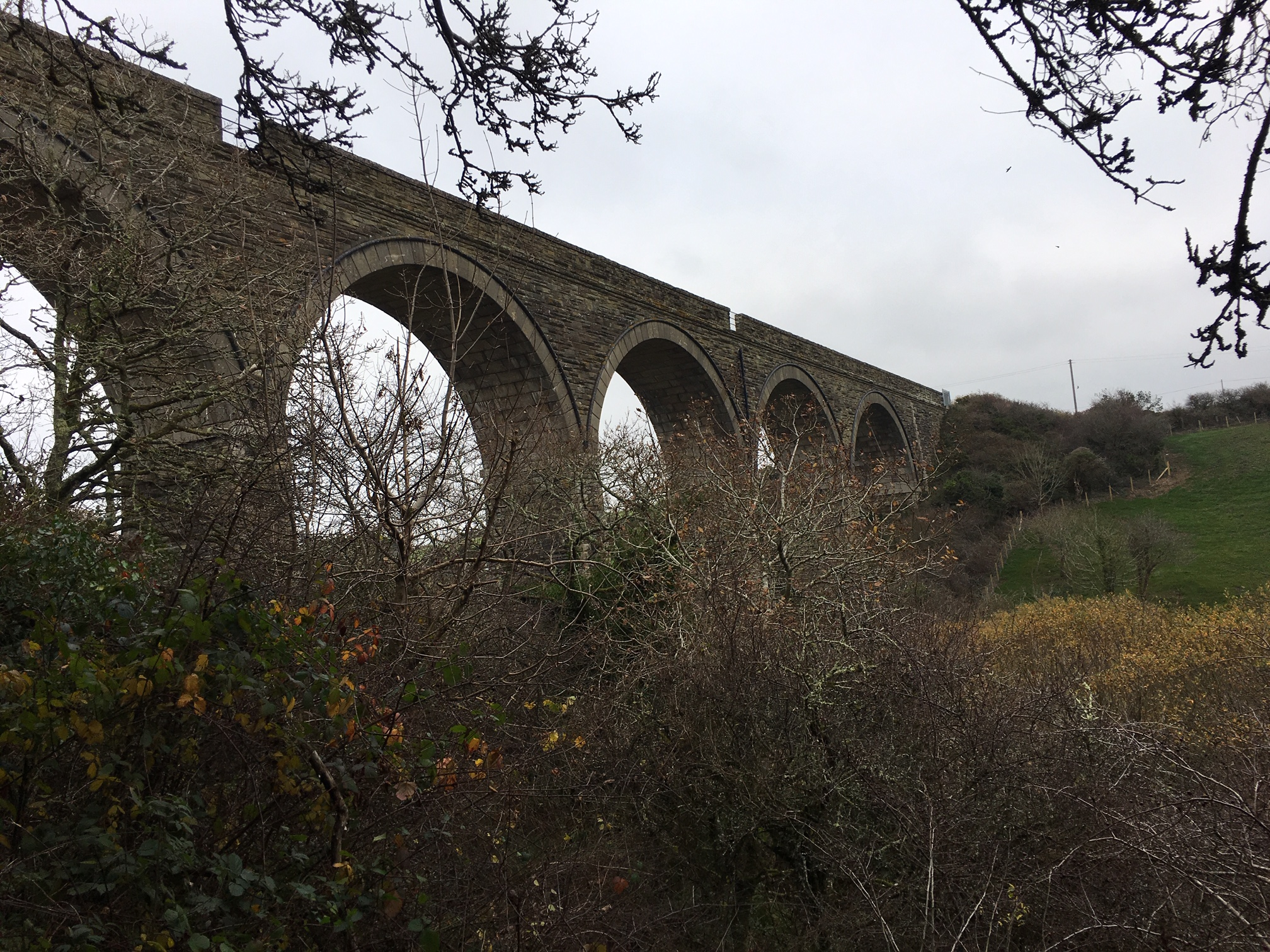 The viaduct - on one of our walks from the farm