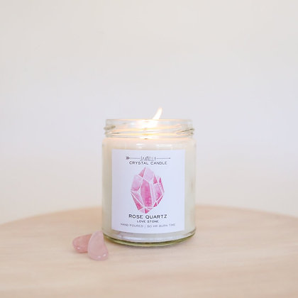 Rose Quartz Candle