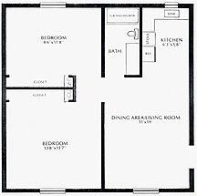 Lakewood Village Apartments One Bedroom Floor Plan