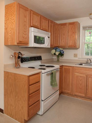 Colonial Village Kitchen with Microwave