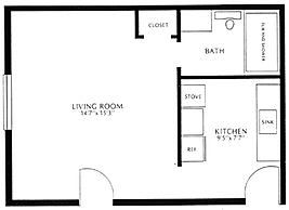 Colonial Village Efficiency Floor Plan