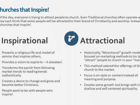 Attractional, Missional, or Inspirational?
