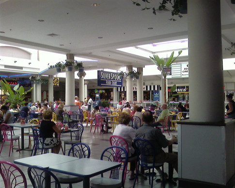 View of food court looking toward mall, 2006