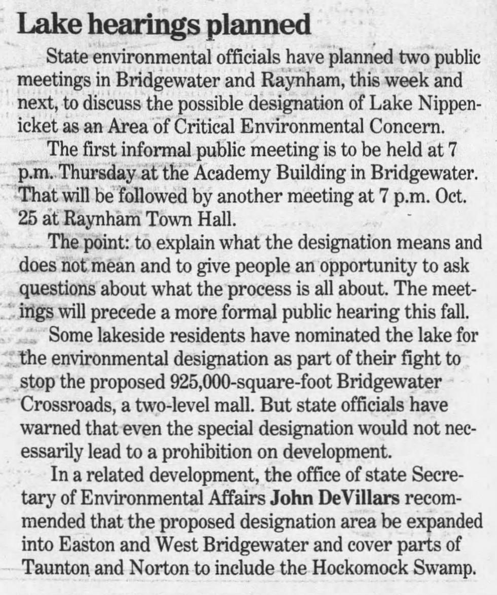 Lake hearings planned