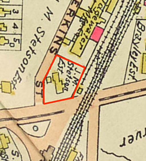 Stetson lot before subdivision, 1903