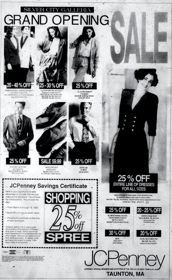 JCPenney ad, 1992