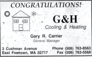 Congratulations from G&H Cooling and Heating