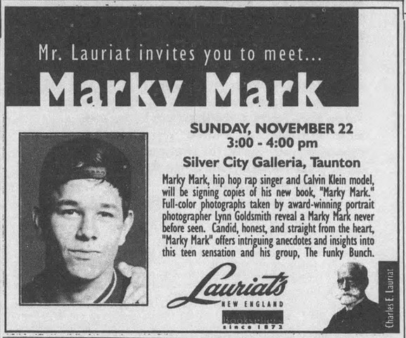 Mr. Lauriat invites you to meet Marky Mark