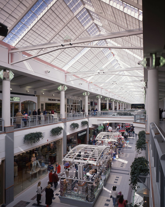 Central mall between Center Court and Filene's, 1992.
