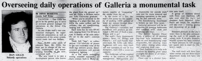 Overseeing daily operations of Galleria a monumental task