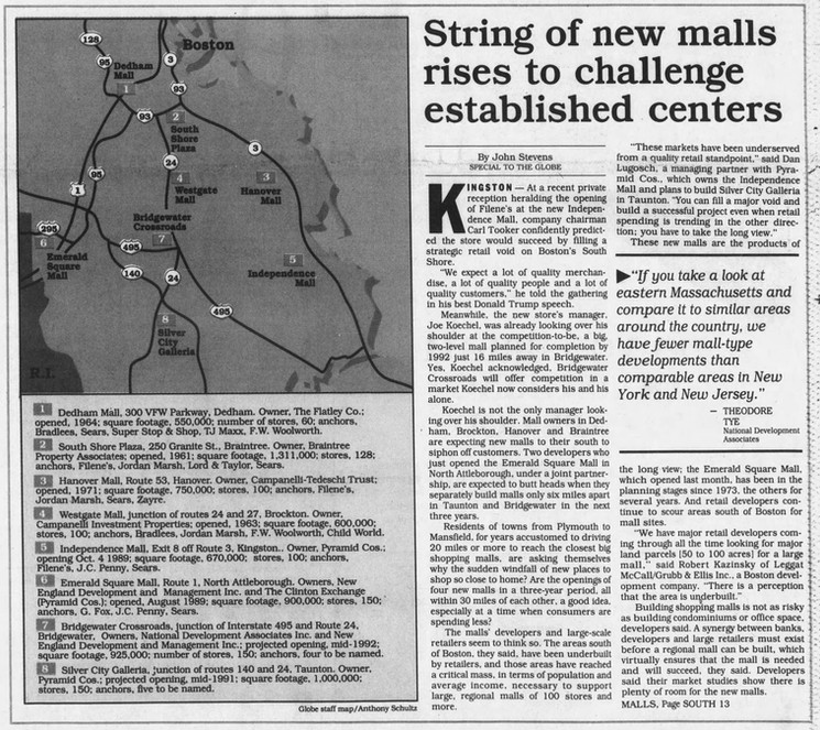String of new malls rises to challenge established centers (part 1)