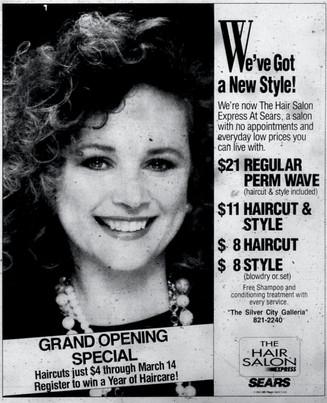 Sears Hair Salon ad, 1992