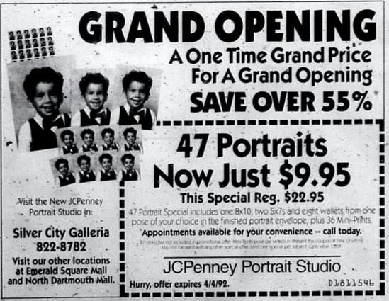 JCPenney Portrait Studio ad, 1992