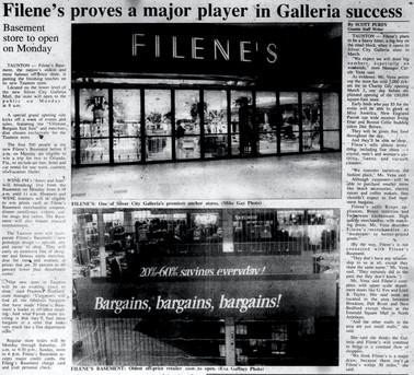 Filene's proves a major player in Galleria success