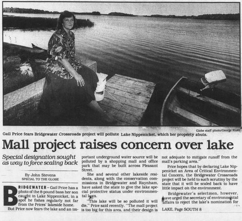 Mall project raises concern over lake (part 1)