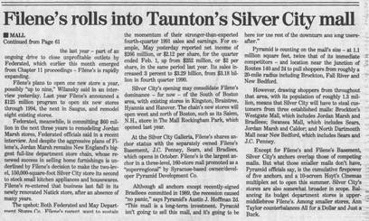 Filene's rolls into Taunton (part 2)