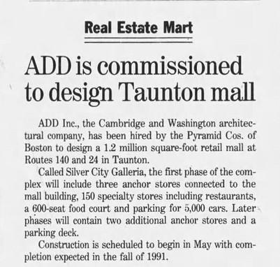 ADD is commissioned to design Taunton mall
